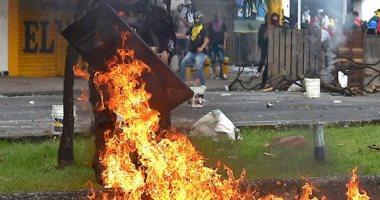 فوضى فى كولومبيا واحتجاجات ضد حكومة دوكى..حرق مراكز الشرطة ووفاة 19 شخص و900 مصاب